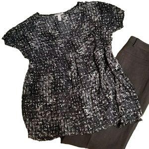 Liz Lange Maternity Print Short Sleeve  Tunic
